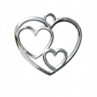 Sterling Silver Triple Heart Pendant